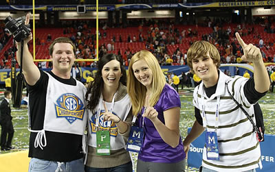 Plainsman staffers cover the SEC Championship game in Atlanta