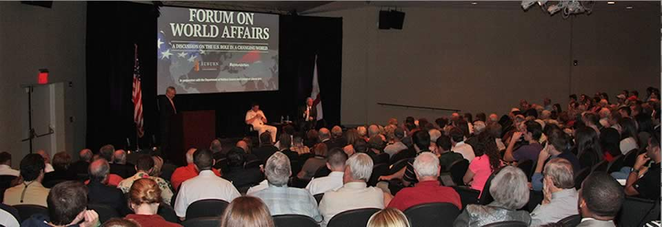 Political Science co-sponsored Forum on World Affairs